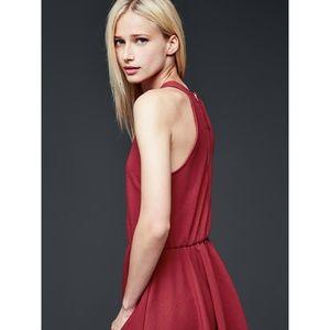Gap NEW NWT Classic Red Dress Elastic Waist S